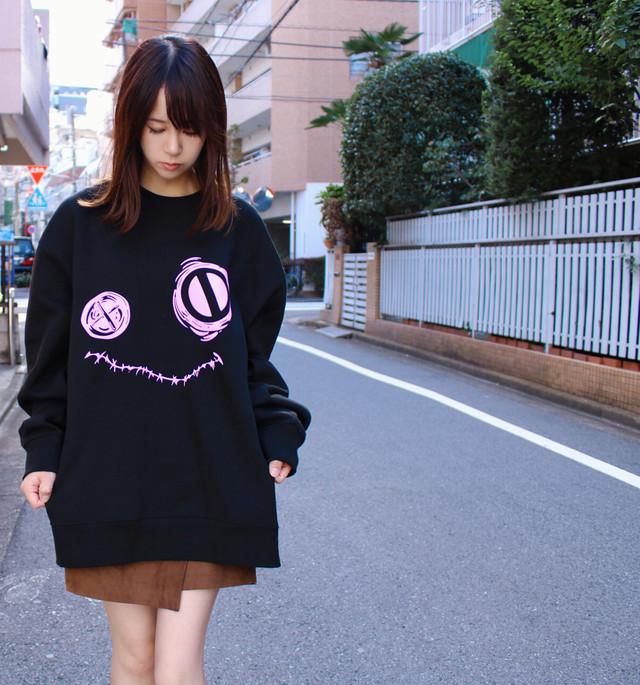 Pink Face トレーナー【ユニセックス】2XL