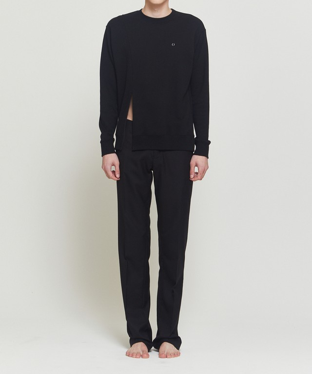 Black Distorted Sweater
