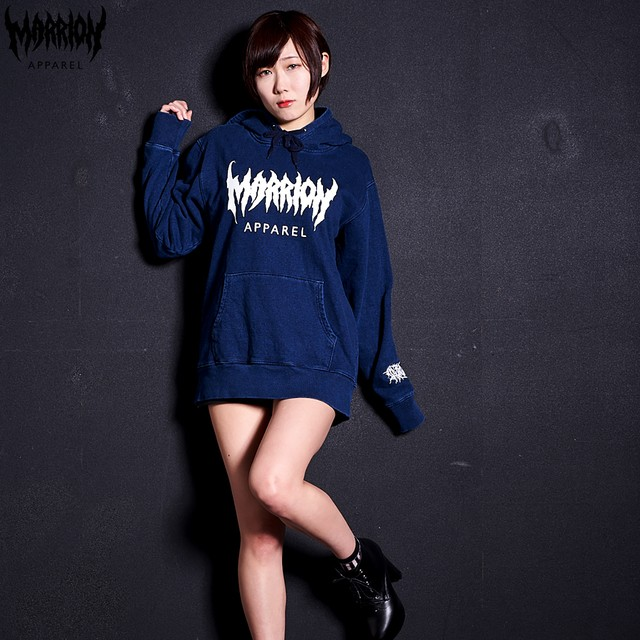 MARRION APPAREL LOGO DENIM HOODIE