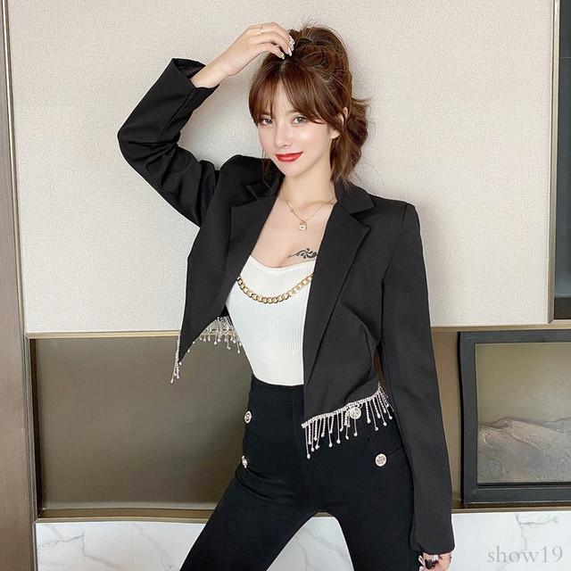 【アウター】韓国系合わせやすい気質よい合わせやすい長袖穗状 カーディガン/厚33940406