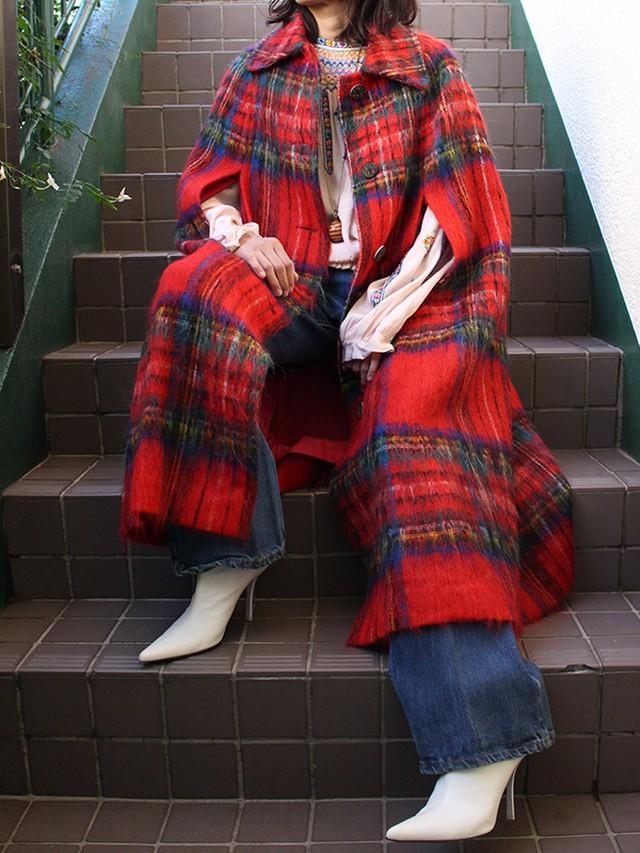 60s mohair cape coat