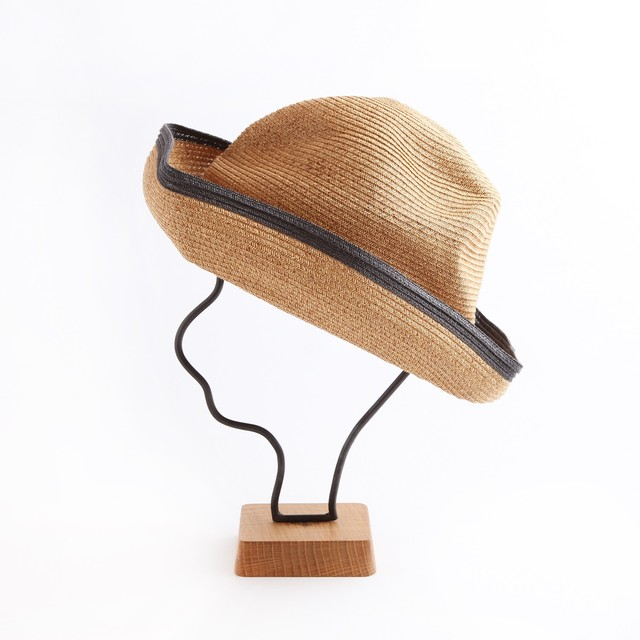 mature ha./BOXED HAT 101SWE mixbrown×chacoal