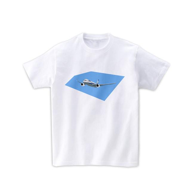 飛行機Tシャツ-空飛ぶ飛行機