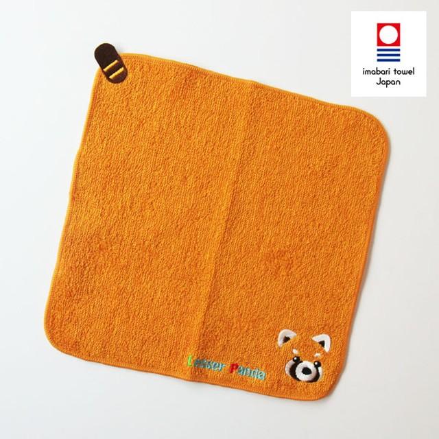 レッサーパンダハンカチタオル/オレンジ