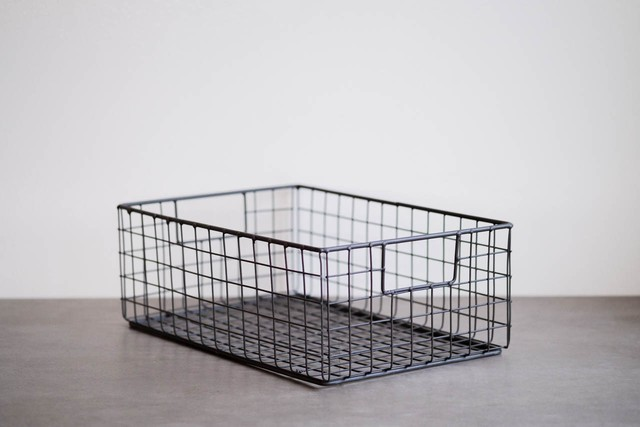 WIRE BASKET SHOES BOX