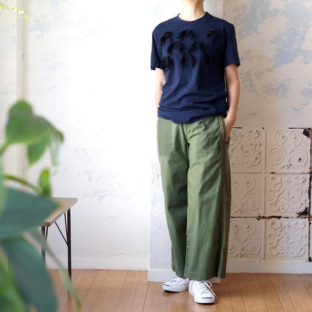 フリンジモチーフ付きTシャツ *boussole(ブソル)