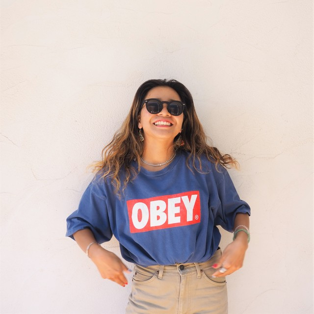 【USED】OBEY Tee《NVY》20383064