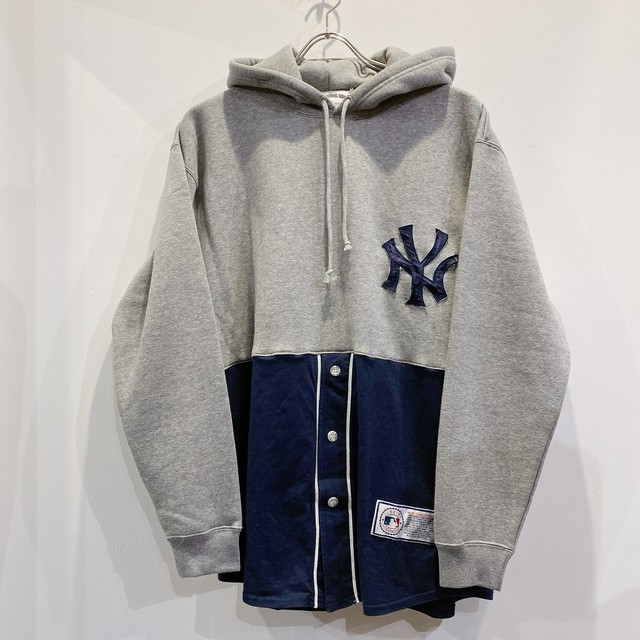 AWESOME BOY × ICHIRYU MADE REMAKE / BASEBALL HOODIE