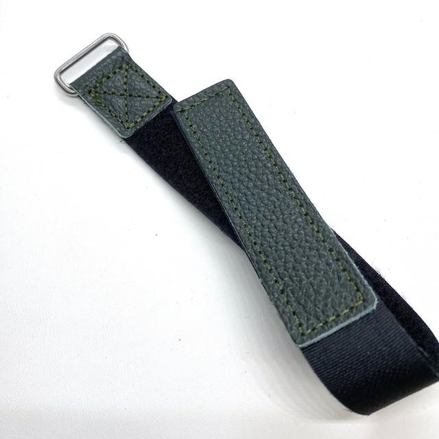 ベルクロ NASAストラップ ブリティッシュ・グリーン 22mm 腕時計ベルト