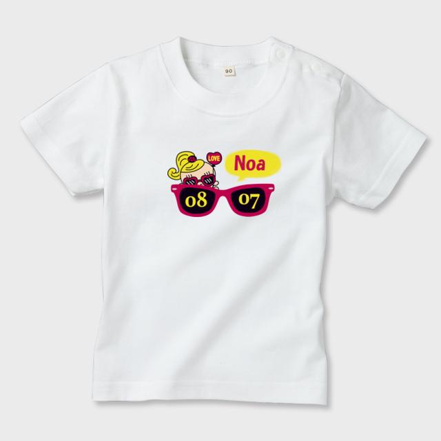 名前入れ Tシャツ サングラス女の子ver.