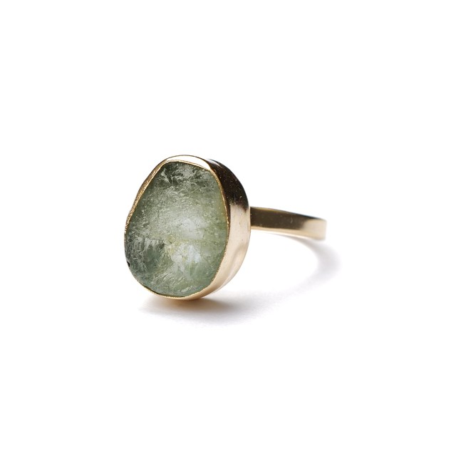ROUGH STONE RING GOLD 021
