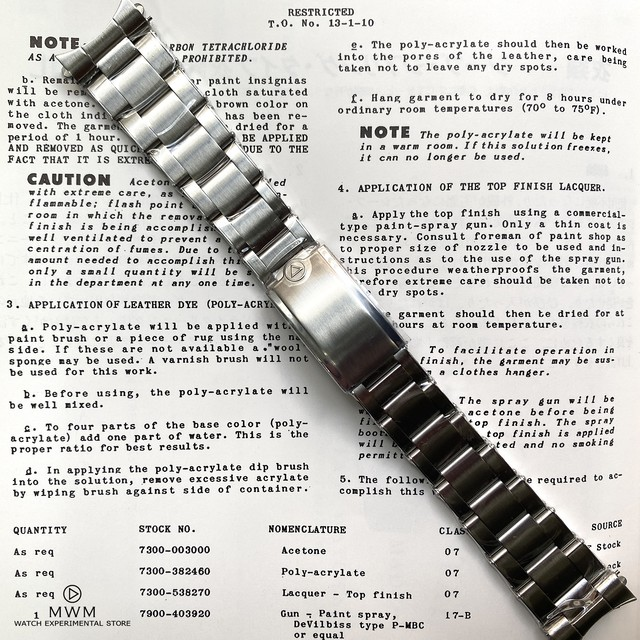 【for NEW CASE】WMT WATCH 3-Link BRACELET for SEA DIVER (for NEW CASE only)