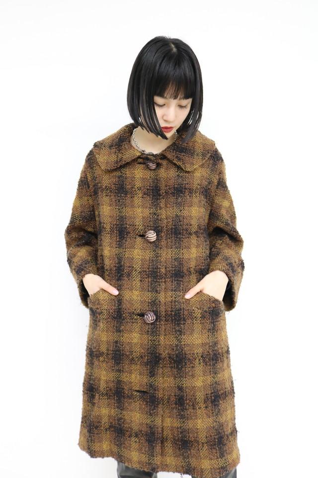 Plaid design coat / OU11260015