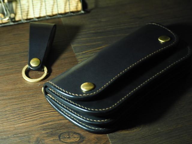 【多脂ベンズ】トラッカーウォレットtype2 ブラック