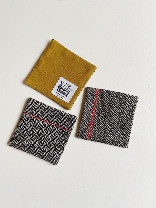 手織りコースター(HAND WOVEN Coaster bird's-eye )