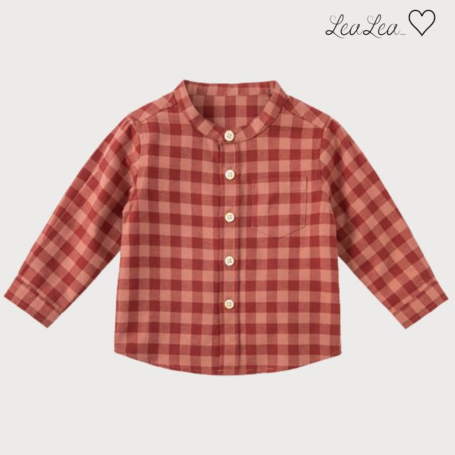 dave&bella2021AW新作♡スタンドカラーチェックシャツ(73cm-140cm)  LeaLea...♡(レアレア)-海外の子供服セレクトショップ