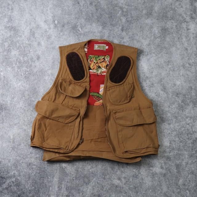 70's JCPenny Hanting vest 70年代 ハンティングベスト JCペニー ペニーズ ゲームポケット ヴィンテージ  古着