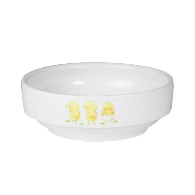 【1713-1270】強化磁器 12.5cm すくいやすい食器 ひよこのもり