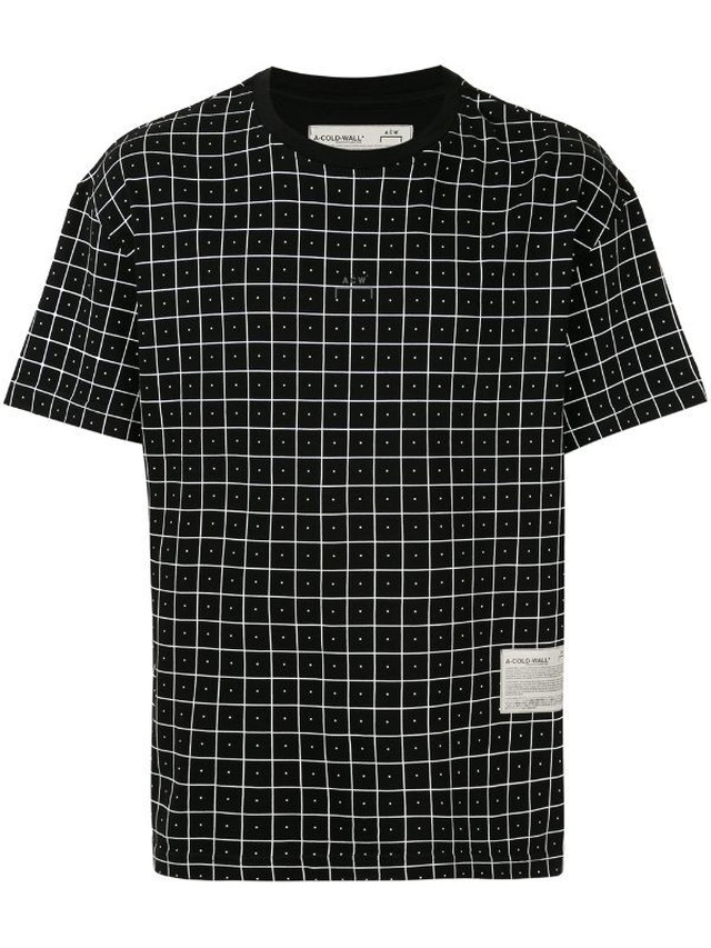A-COLD-WALL* / GRID PRINT T-SHIRTS