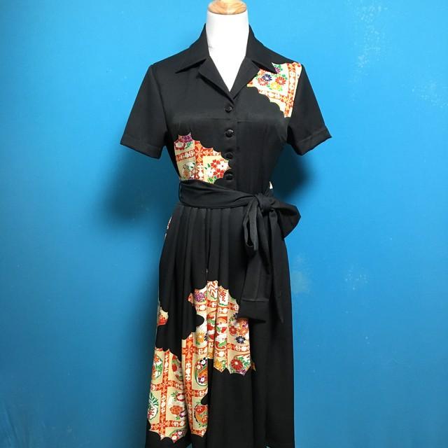 Vintage kimono shirt dress/ US 6