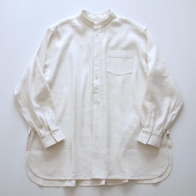 drawer shirts / オフ×グレイ コードレーン / cotton100%