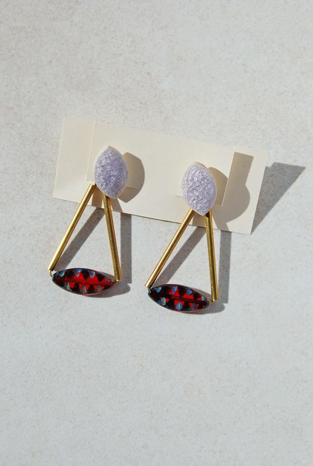 Pierce: Czech Beads & ガラス [深紅色]