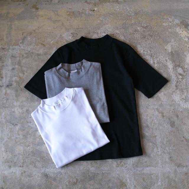 Fabrique en planete terre ファブリケアンプラネテール モックネック5分袖Tシャツ