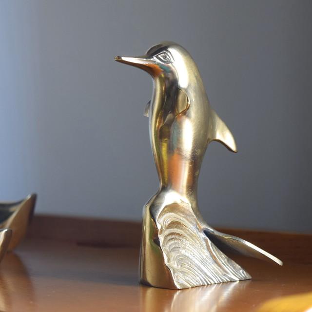 ヴィンテージ イルカ 真鍮製