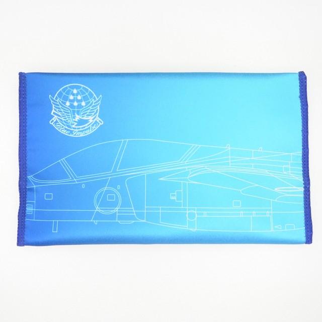 洗って何度も使える!【航空自衛隊】ポリエステル製マスクケース 「ブルーインパルス」線画デザイン<送料無料>