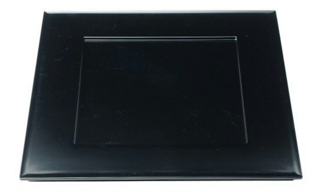 33cm 角プレイスプレート 黒