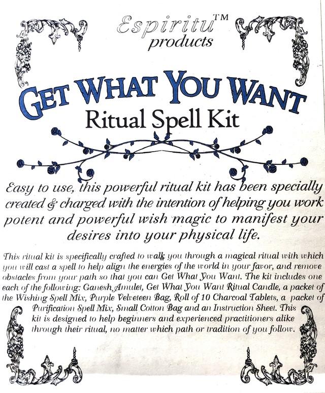 白魔術キット ゲットワットユーワント GET WHAT YOU WANT Ritual Spell Kit