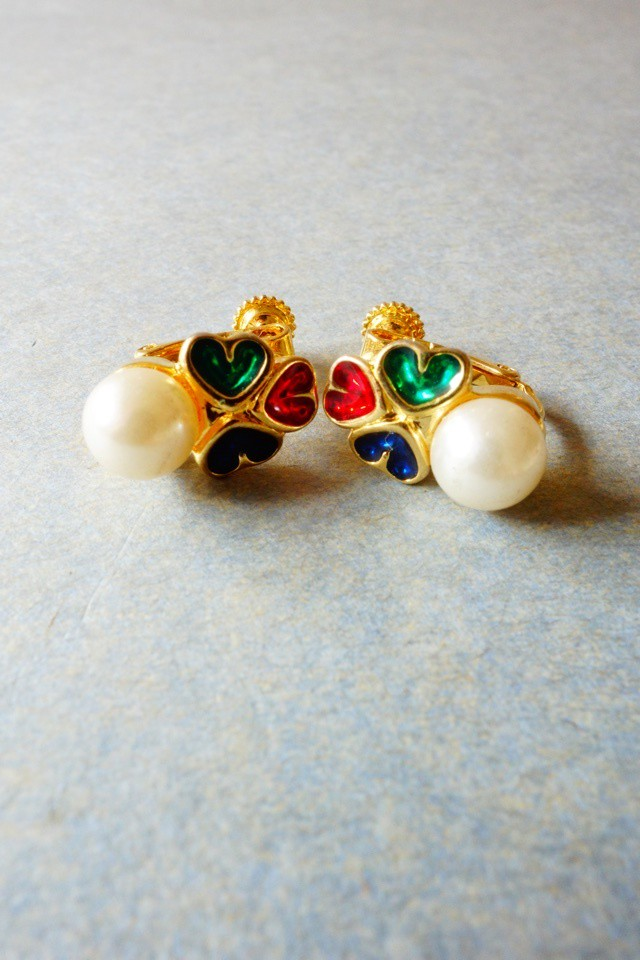 80s vintage earrings made in france