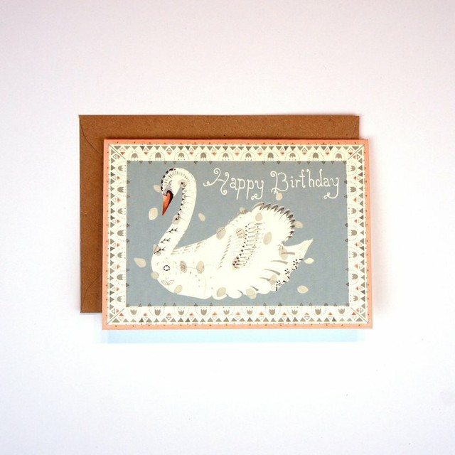 Greeting Card - Swan Birthday