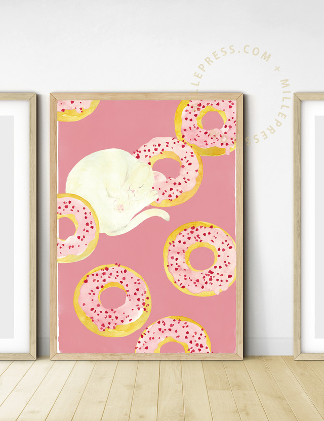 """【Cat and delicious time """"strawberry donuts""""】 MP154-017C"""