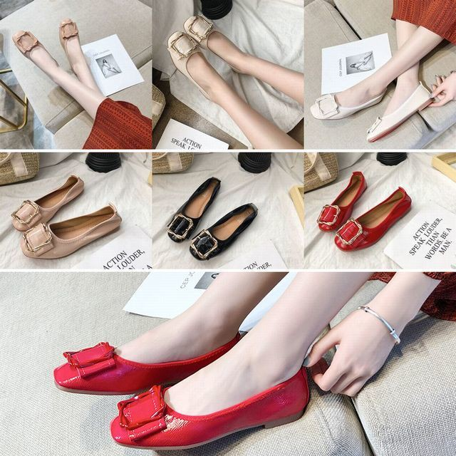 【Other】エナメル フラットシューズ パンプス / Round flat piece soft sole shoes (DCT-574094888923_0)