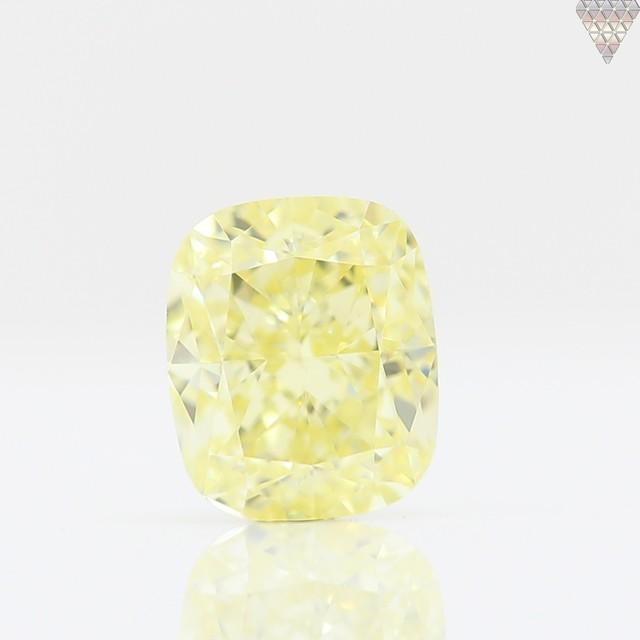 0.52 ct FANCY YELLOW  VS1 CUSHION GIA 天然  ダイヤモンド ルース