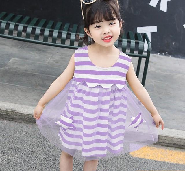 【ワンピース】韓国ファッション多色半袖ラウンドネックレース綿生地夏·ワンピース27302926