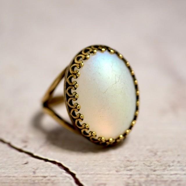ムーンガラス モダンガラスリング(指輪)