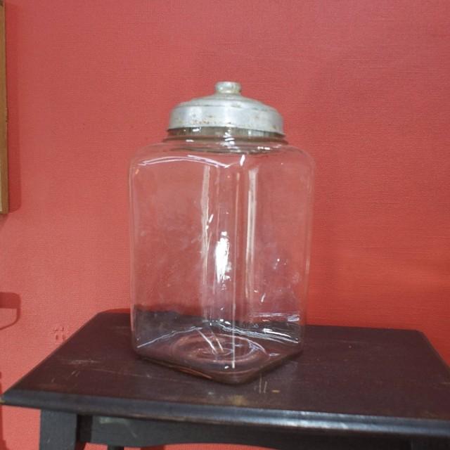 1950'年代 駄菓子瓶 アルミ蓋付