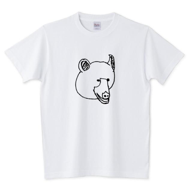 クマのTシャツ<ホワイト>