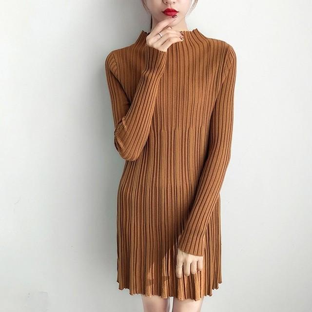 ロングニットドレス 1159