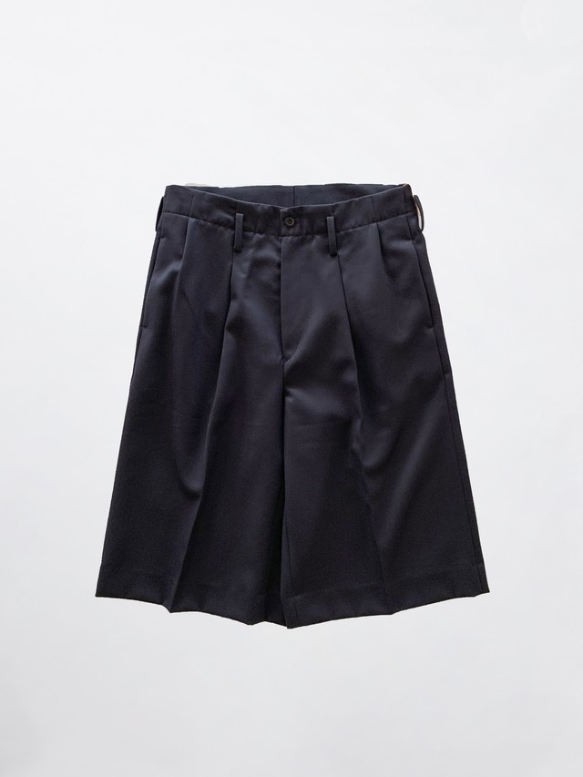 MAISON EUREKA WIDE SHORT PANTS Navy 259