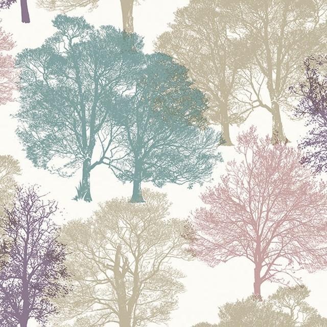 【Ambiente】バラ売り2枚 ランチサイズ ペーパーナプキン Skeleton Trees ベージュ