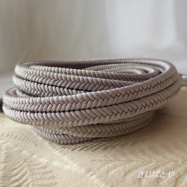 正絹 真珠色の三分紐