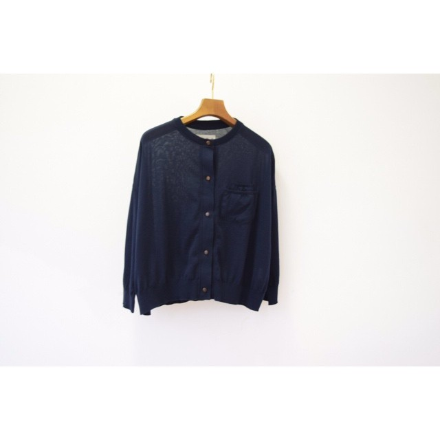 Simva115-0004-Navy18G Drop Shoulder Cardigan