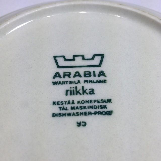 ARABIA アラビア Riikka リーッカ カップ&ソーサー プレート 3点セット 北欧ヴィンテージ