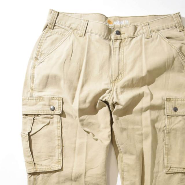 【W36】CARHARTT カーハート CARGO PANTS カーゴパンツ BEIGE ベージュ 36×30 400612200323