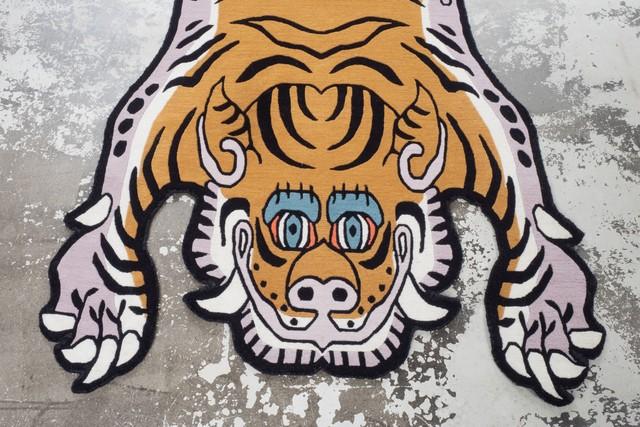 Tibetan Tiger Rug 《Lサイズ•ウール・オリジナル2・マスタードイエロー097》チベタンタイガーラグ