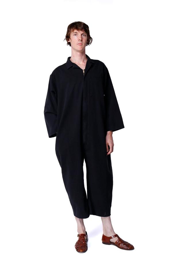 【69】long sleeve Jumpsuit  BLACK