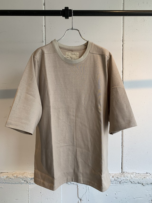 77CIRCA back switching tee (Beige)